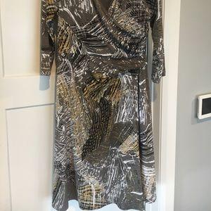 Limited faux wrap dress